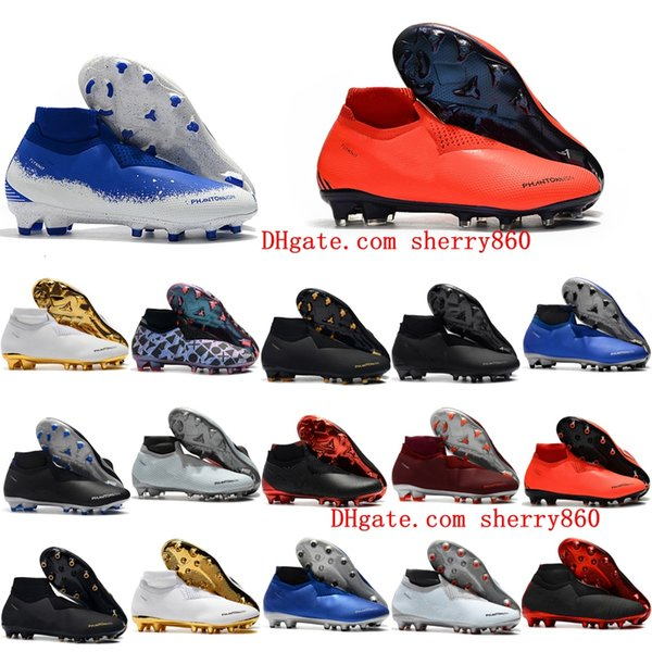 2018 chaussures de soccer en extérieur pour chaussures de football en plein air Phantom VSN Elite DF FG AG x chaussures de football EA Sports Phantom Vision scarpe calcio chaud