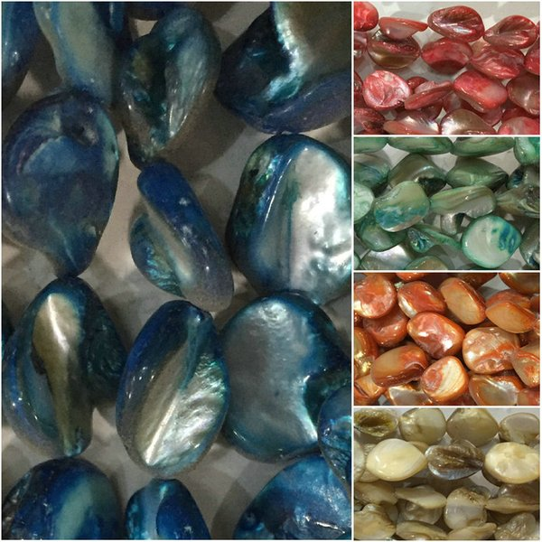 40cm 15mm one string colorful shell mother of pearl beads Spacer Beads DIY necklace bracelet earring making
