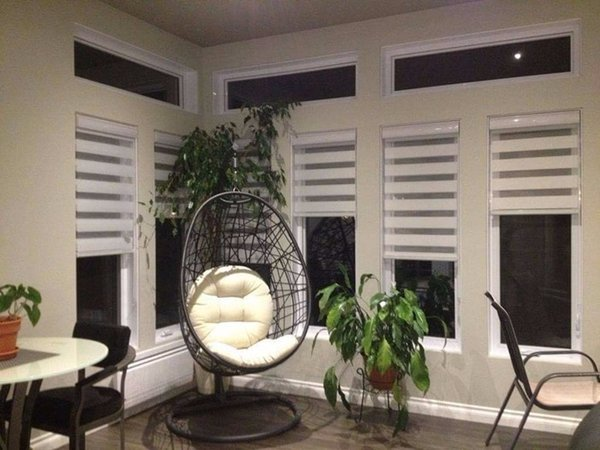 Zebra Blinds Roller Shutter Double Layer Shade Customized Curtains For Living Room double blinds zebra blinds