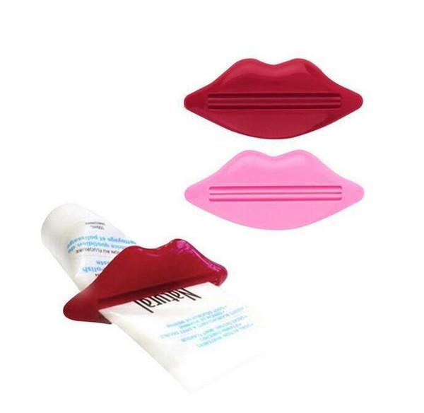 Heiße neue Zahnpasta Tube Squeezer Sexy Hot Lip Kuss Badezimmer Tube Squeezer Dispenser Creme Squeezer Farbe zufällig 93 x 42mm