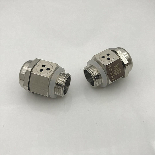 IP68 Stggo M12x1.0 metal ventilation cable gland with vent Breather PLUG for Remote Controls for Heavy Equipments