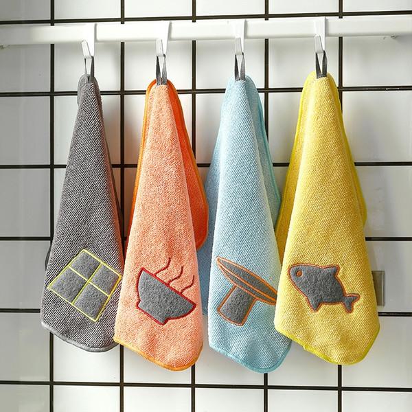 Вешалка для мытья посуды Hangable Чистящее средство для кухни Полотенце из микрофибры Абсорбирующее блюдо Ткань Утолщенная салфетка для мытья рук