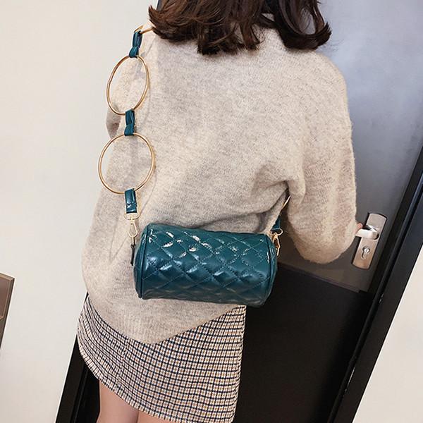 Women Handbag Small Purse Bucket Bag Cell Phone Shoulder Bag Barrel-shaped Fashion Crossbody Zipper Bags