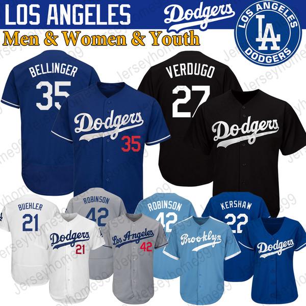 Los Angeles benutzerdefinierte Dodgers Trikots Clayton Kershaw Alex Verdugo Cody Bellinger Corey Seager Yu Darvish