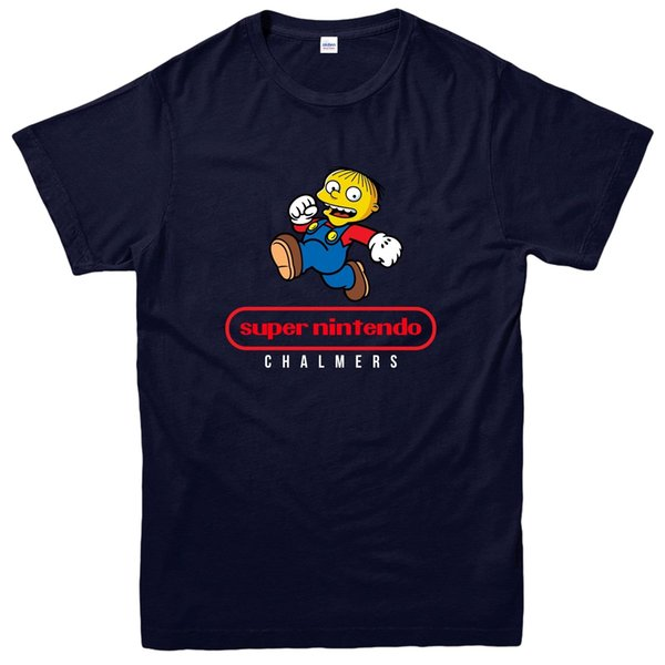 Super Mario T-Shirt, Animated Cartoon Video Game Spoof Tee Top Funny free shipping Unisex