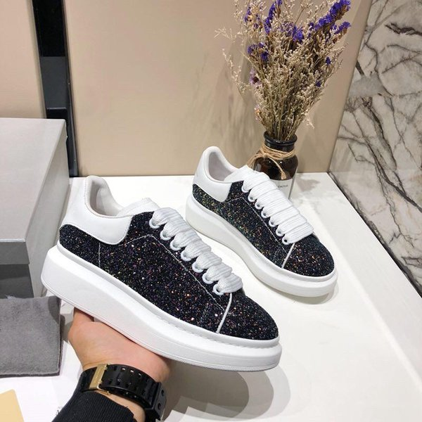 2019 새로운 남성 여자 화이트 그린 돌아 가기 플랫폼 신발 평면 캐주얼 신발 레이디 블랙 핑크 레드 골드 여성 화이트 sf996811