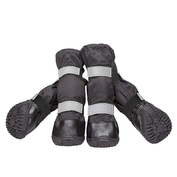 Dog Boots Big Dog Shoes Snow Boots Rain Boots Advanced Waterproof Snow Shoes Warm Long Shoe For Winter