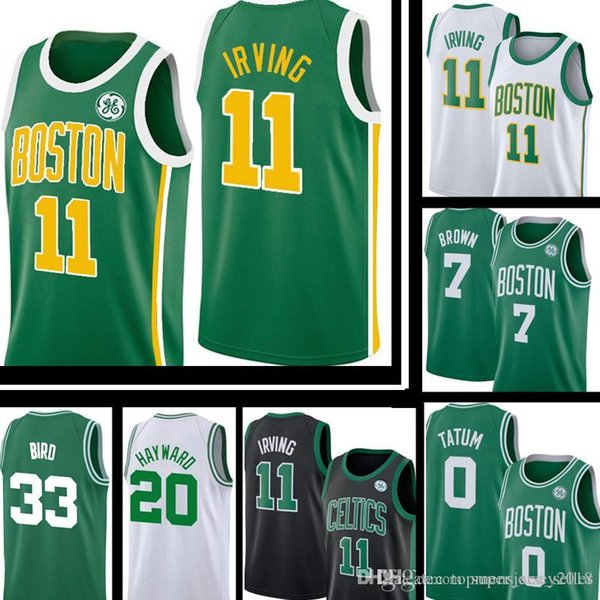 brand new d4619 e05a6 2019 Boston Celtic Earned Edition Jersey Kyrie Mens Irving Jayson 0 Tatum  Gordon 20 Hayward Larry 33 Bird Embroidery Basketball Jerseys From ...
