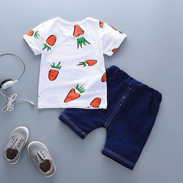 good quality 2019 Baby Boy Clothes Summer Clothing Sets For Boy Cartoon Short+shorts 2PCS Outfit Children Tracksuit