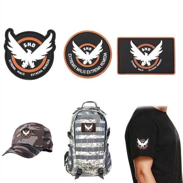 Toppa in PVC The Division SHD Military Tactical Armband Morale Rubber Badge 3 Style # 664518