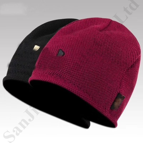 Under UA Reversible Beanies Markendesigner Polar Fleece Hut Double Sides Wearable Cap Outdoor Ski Sport Hüte Warm Knitting Headwear C9604