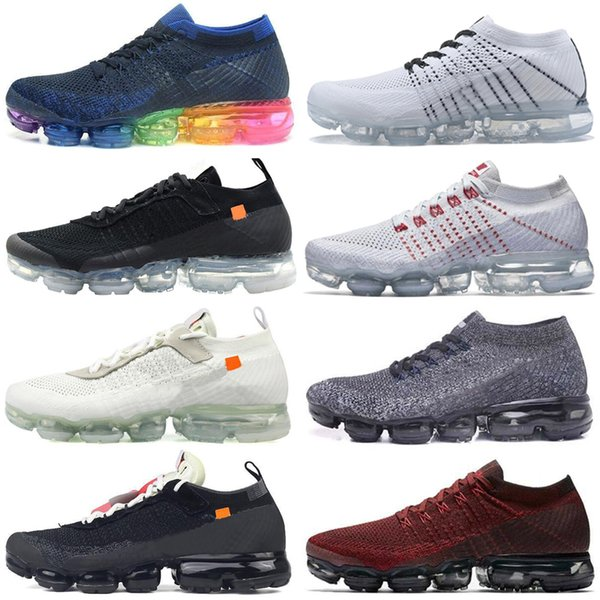 2019 Knit 2.0 Fly 1.0 Running Shoes Sports Bumblebee Neptune Blue Fireworks Purple mandarin duck Pigeon For Men Women Casual Shoes