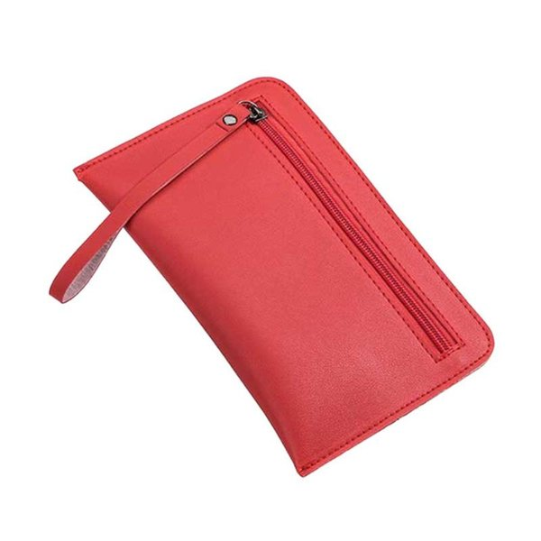 Casual Women Solid Zipper Clutch Wallet with String PU Leather Long Coin Purse Soft Phone Bags