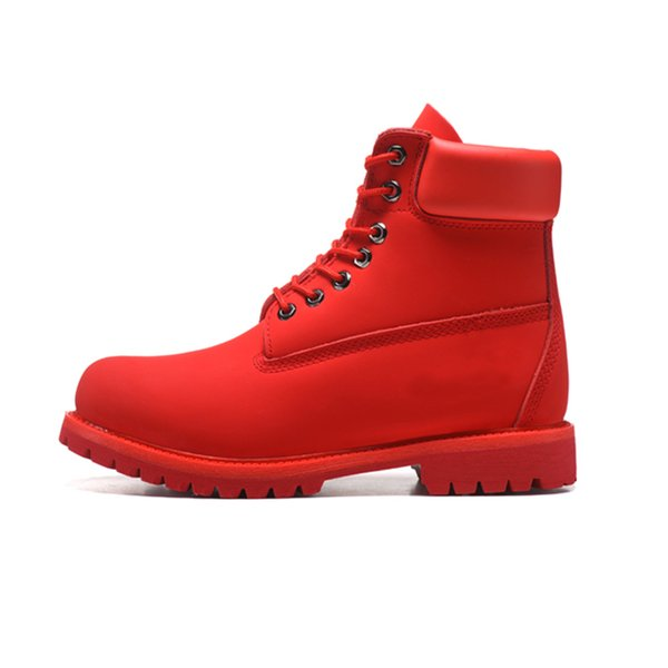 Hot Sale-New designer men women boots red triple black white navy blue fashion mens Martin Boot outdoor jogging walking shoes