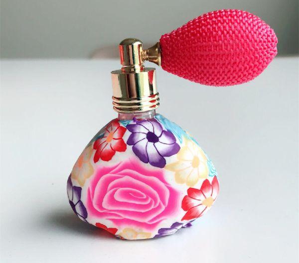 Airbag Botella de perfume 15 ml Triangular Suave arcilla Arcilla vacía Perfume Botella de viaje Atomizador recargable Gasbag Botellas de embalaje GGA2222