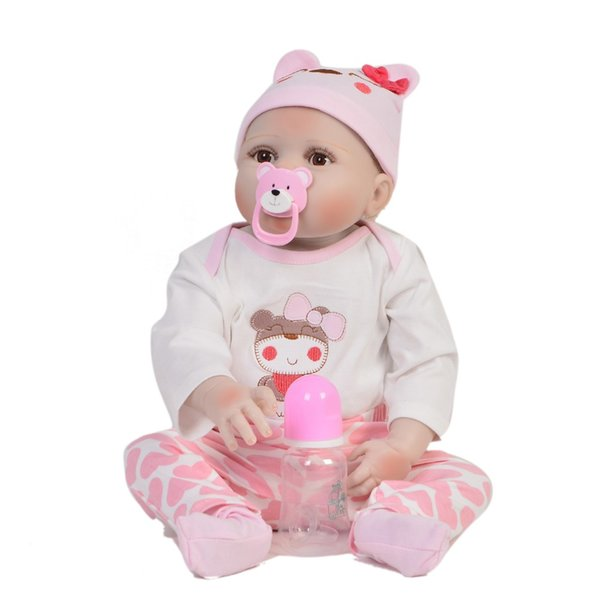 "Full silicone 23""57cm Reborn babies doll princess bathe real looking bonecas Toys birthday Xmas gifts collection hot sale girls"