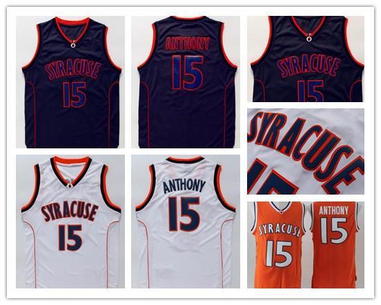 timeless design da203 a3ef3 2019 Syracuse College NCAA Jersey Carmelo Anthony Jersey Black White Orange  Mens Carmelo Anthony College Basketball Jerseys Stitched From Dorajerseys,  ...