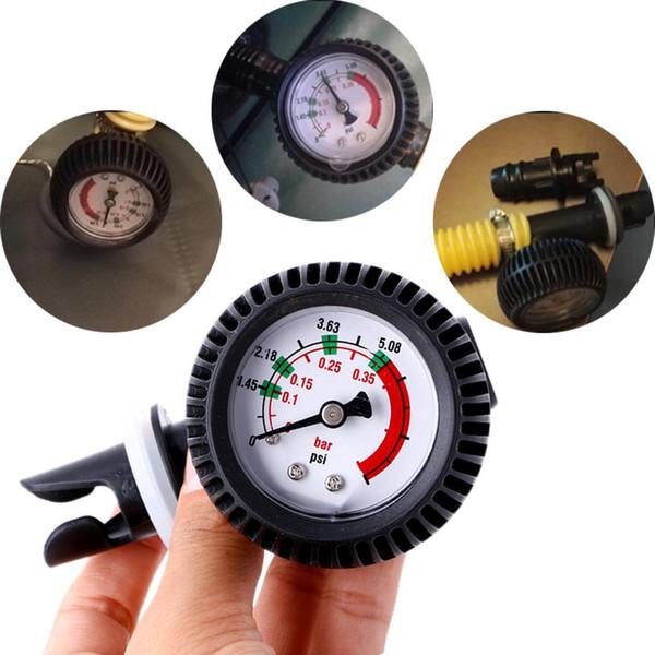 Pump Gas Pressure Test Gauge Barometer for Inflatable Boat Kayak Surfboard Air Thermometer SUP Test Pressure Valve Connector