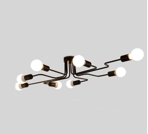 Personality ceiling lamp light modern Chinese style led long iron led ceiling light fixturesled ceiling light fixtures,lamp customization