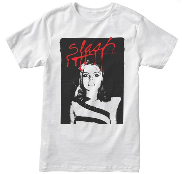 Blondie Debbie Harry Slash Punk camiseta blanca - ¡NUEVO! - S M L XL 2XL 3XL 4XL 5XLFunny envío gratis Unisex Casual Tshirt