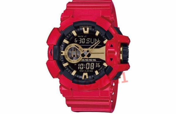 2019 Мальчик Студент Shock Кварцевые Часы Miltary 2019 G Стиль LED Цифровые Наручные Часы Календарь Дата Часы Часы Shock Подарочные Часы для Человека Саат
