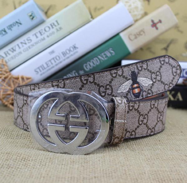 High-End-Luxus-Mode-Business Herren-Leder Buchstaben keinen Kasten Schnallengurt hohe Qualität heißen Verkauf glätten
