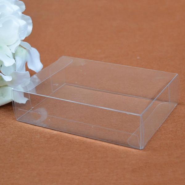 50pcs / lot 25 tailles PVC Boîte en plastique transparente Boîtes cadeaux Petit emballage en plastique transparent pour modèle Boîtes de présentation d'échantillons 7/24