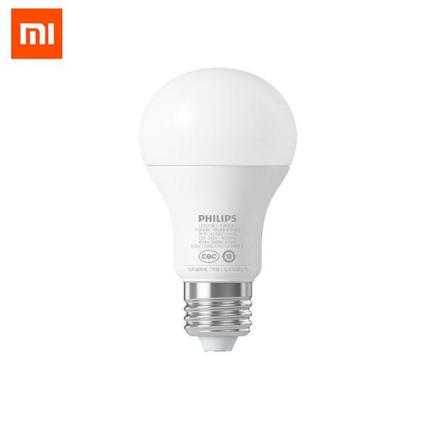 Xiaomi mijia PHILIPS 6.5W E27 Bulb 220 - 240V 450LM 3000 - 5700K Stepless Dimming Smart LED Ball Lamp Mi Light APP WiFi Remote