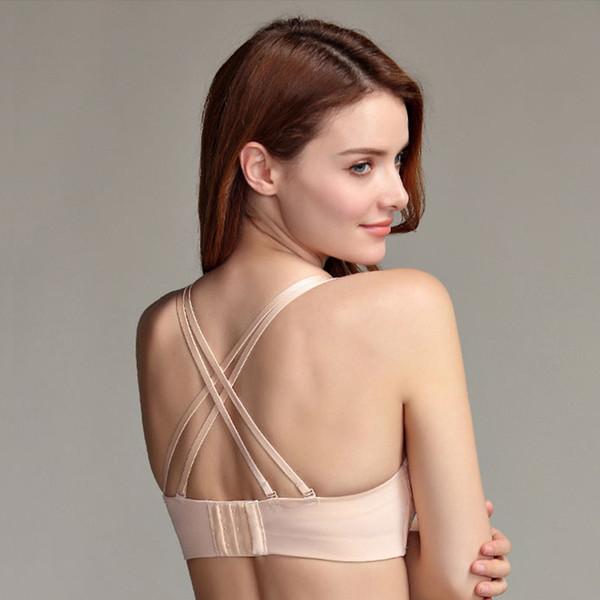 New Japanese Lace Tube Top No Steel Ring Beauty Back Small Breast Thick Cup Concentrated Invisible Bra