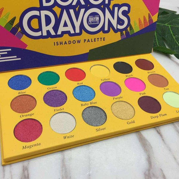2018 box of crayons eyeshadow ishadow palette 18 color shimmer matte eyeshadow palette makeup eye shadow dhl