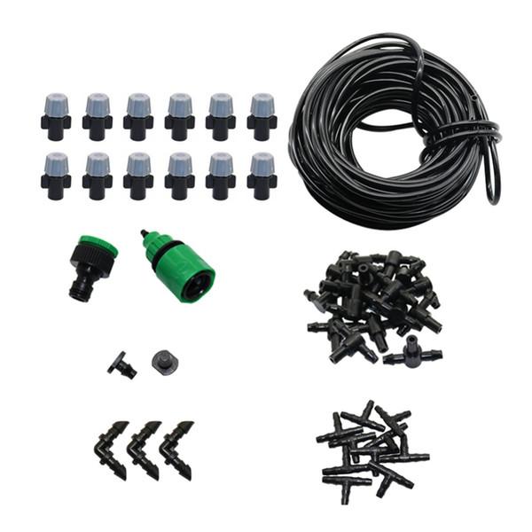 Kit de riego automático de nebulización de 5 m / 10 m / 20 m Sistema de riego por goteo de vertido de jardín Kit de riego de invernadero de agricultura