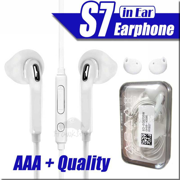 top popular Earphones For S7 S6 edge Galaxy Headphone High Quality In Ear Headset With Mic Volume Control For i5 6S Moblie Phone 2020