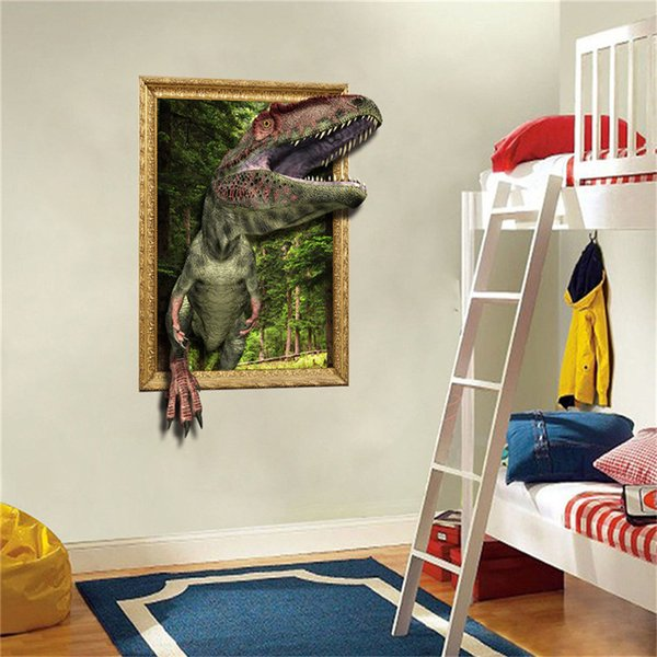 Unique Dinosaur Pattern Room Decoration 3D DIY Family Home Wall Sticker Removable Mural Decals  Art Room Decor