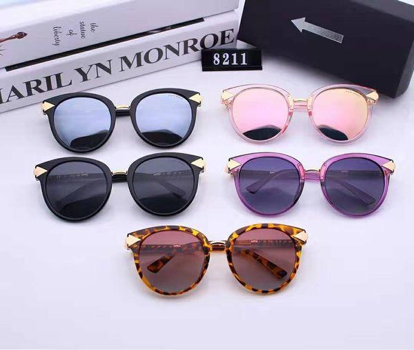 Nouvelle conception de haute qualité rétro designer dame masculine lunettes de soleil de marque ray yang de monture cadre doré cadre brun 50mm lentille en verre protection UV400.