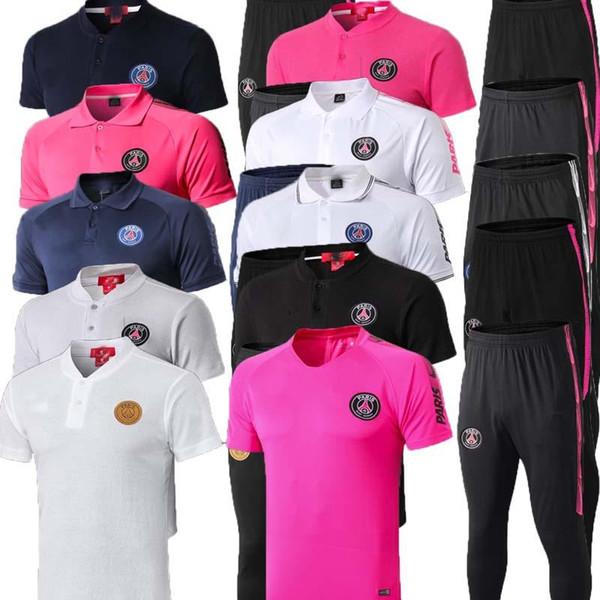 19 20 PSG aJ с короткими рукавами рубашки брюки psg JORDAM футбол тренировочный костюм Survetement 2019 MBAPPE Футбол рубашки поло спортивный костюм майка