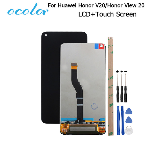 ocolor Per Huawei Honor V20 Display LCD e Touch Screen Digitizer Assembly di ricambio con strumenti per Huawei Honor View 20 LCD