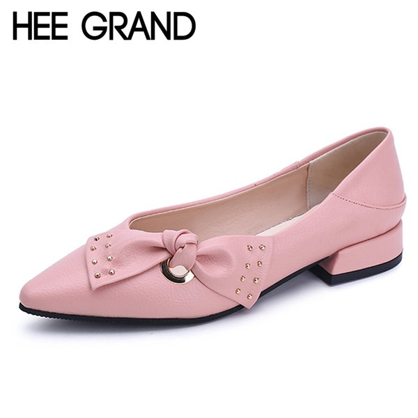 Dress Shoes Hee Grand Sweet Patent Leather Women Oxfords For Spring Pointed Toe Platform Low Heels Pumps Brogue Woman Xwd6447