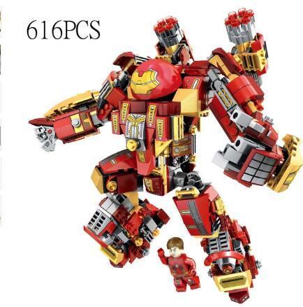 boy toy Iron Man Compatible Legoed avengers Armor warrior soldier figures building blocks enlighten bricks toys for children friends