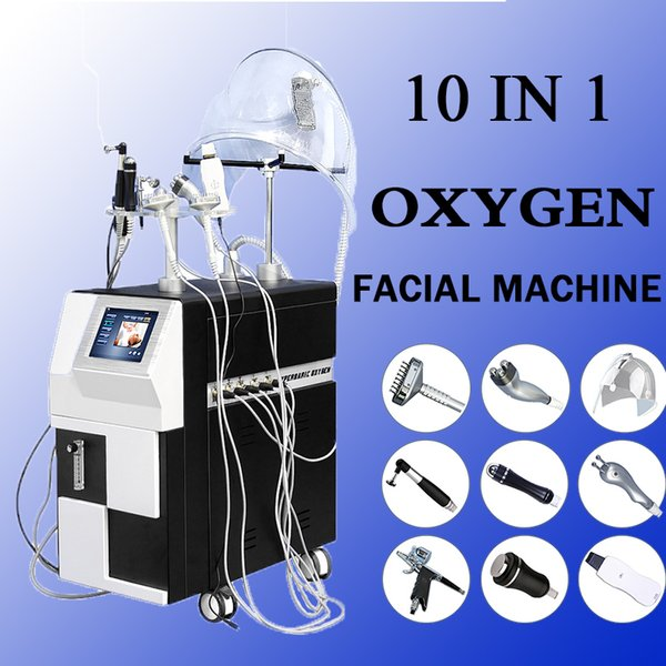 2019 Facial oxygen Machine oxygen injection jet peel water wrinkle removal Shrink pores skin tightening facial device