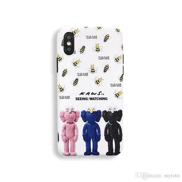 YunRT France Paris Kaws XX bee silicon case for apple iphone XR X XS MAX 7 8 6 6S plus fashion cartoon doll white phone cover