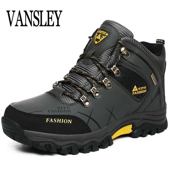 Botas de hombre Tamaño 39-47 Diseñador de zapatos para hombre de invierno a prueba de agua Hombres Botas de nieve Cordones para hombre Botines de invierno cálido masculino