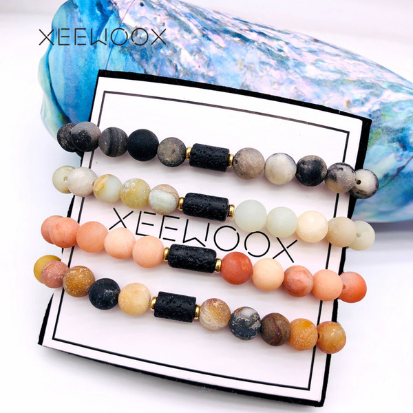 Yoga Essential Oils Diffuser LAVA Natural Stone Bead Bracelet Sport Woman Man Girl Boy Friend Couple Party Date 2019 New Gift