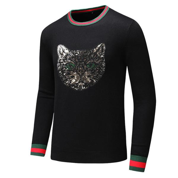Mens designers de blusas capuz mens Marca camisola bordado Knitwear Long Sleeve Designers camisola Mens roupa do inverno Crew Neck # 1001