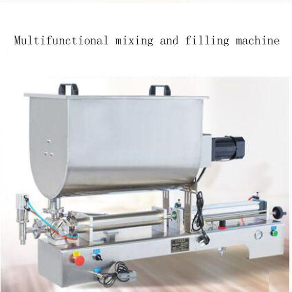 Yatay pnömatik karıştırıcı fonksiyonu biber sosu susam ezmesi macunu sosu dolum makinası