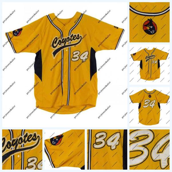 34 Bryce Harper 2010 Güney Nevada Oyunu Yıpranmış Junior College Beyzbol Forması Takımı Çalışan LOA Çift Dikişli Adı ve Numarası