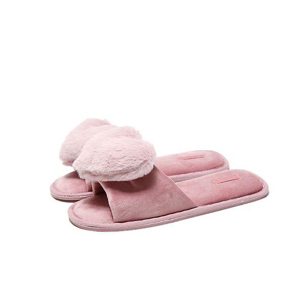 Verano productos de nuevo estilo amor algodón fregona piso interior regalo de fondo inferior de goma mujeres zapatillas boca de adulto zapatos de niña adultos