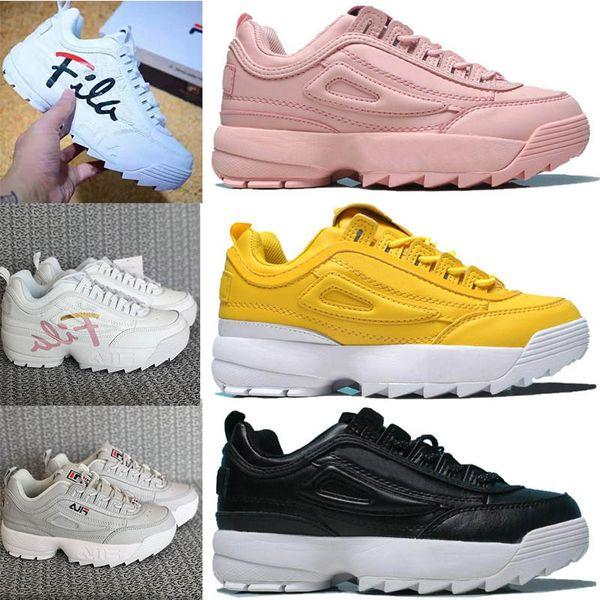 2019 дизайнерская обувь Disruptors 2 II для кроссовок кроссовки Розовый белый желтый Chaussur
