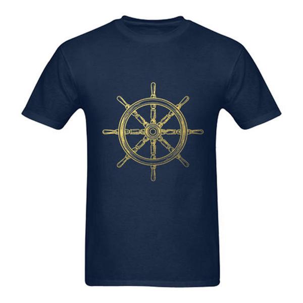 7f7ad41e0ea89 Ropa de talla grande S M L Xl Xxl Camisa náutica Oldschool Wheel para  hombre de la rueda