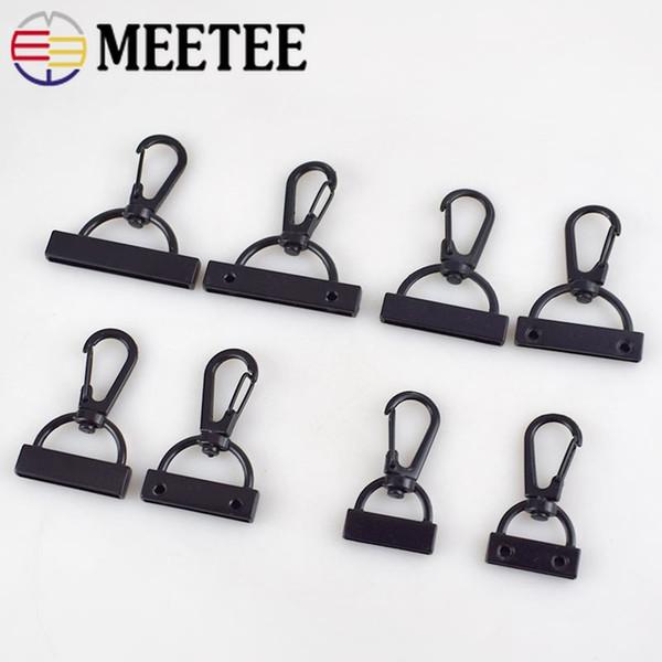 Meetee 20/26/30/38mm Webbing Lobster Clip Hooks Carabiner Buckles Screw DIY Handmade Bag Clothing Decor Accessories BD381