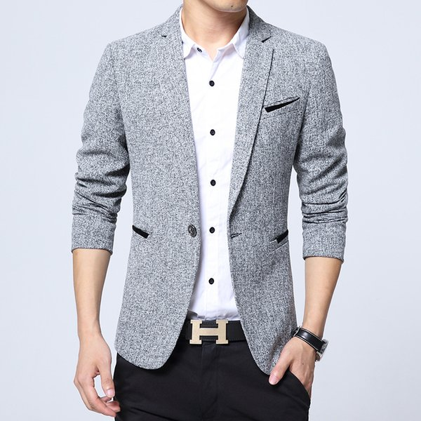 Spring Suit Brand 2018 New Arrival Clothes Men Blazer Fashion Slim Male Suits Casual ASIAN Size M-5XL